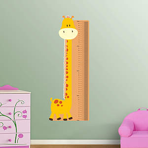 Giraffe Growth Chart Fathead Wall Decal